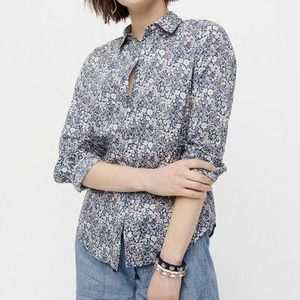J. Crew Perfect Shirt Liberty June's Meadow Floral
